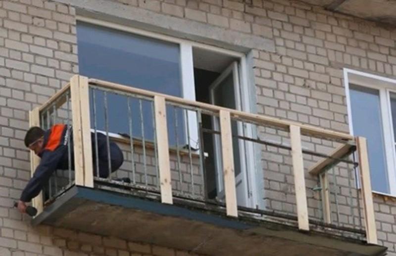 Установка балкона своими руками 926