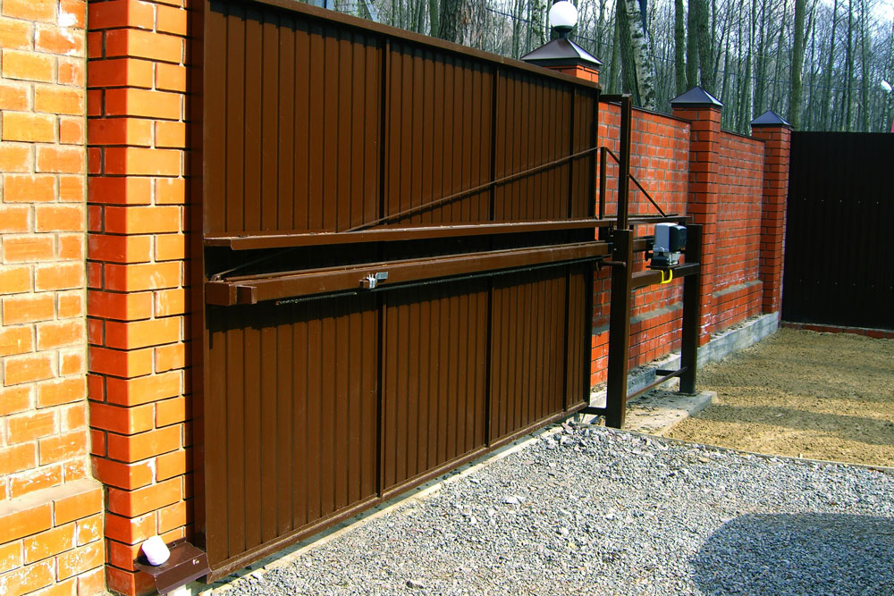 Консольные ворота со средней балкой своими руками