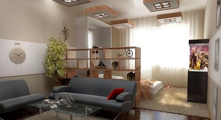 Varianter af zoneinddeling planlægger et soveværelse i stuen ...