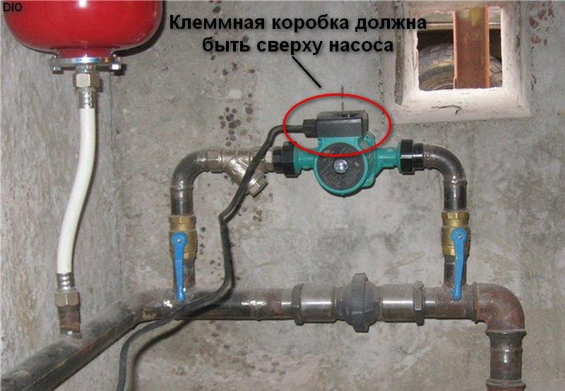 насос отопления должен отключаться