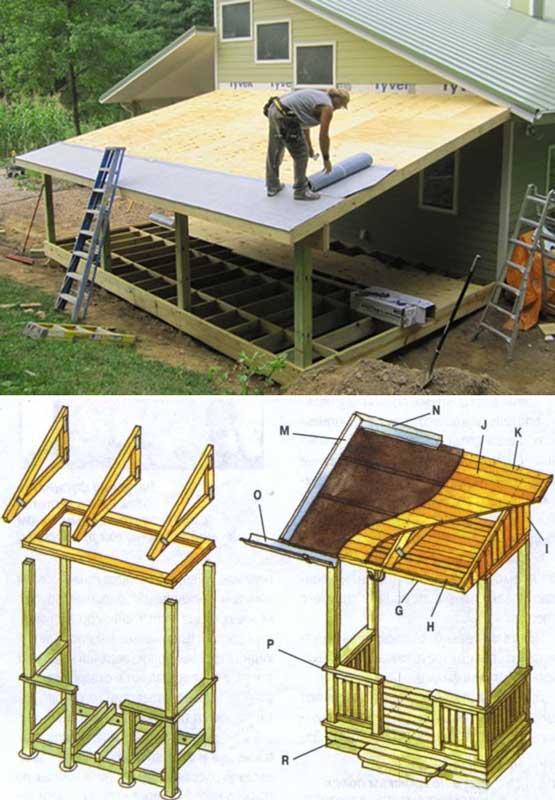 Как построить веранду к дому своими руками пошаговая 460