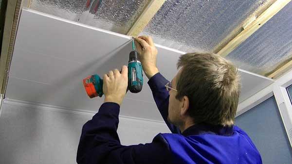 Установка пластиковых потолков своими руками 854