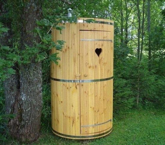 Круглый туалет своими руками 30