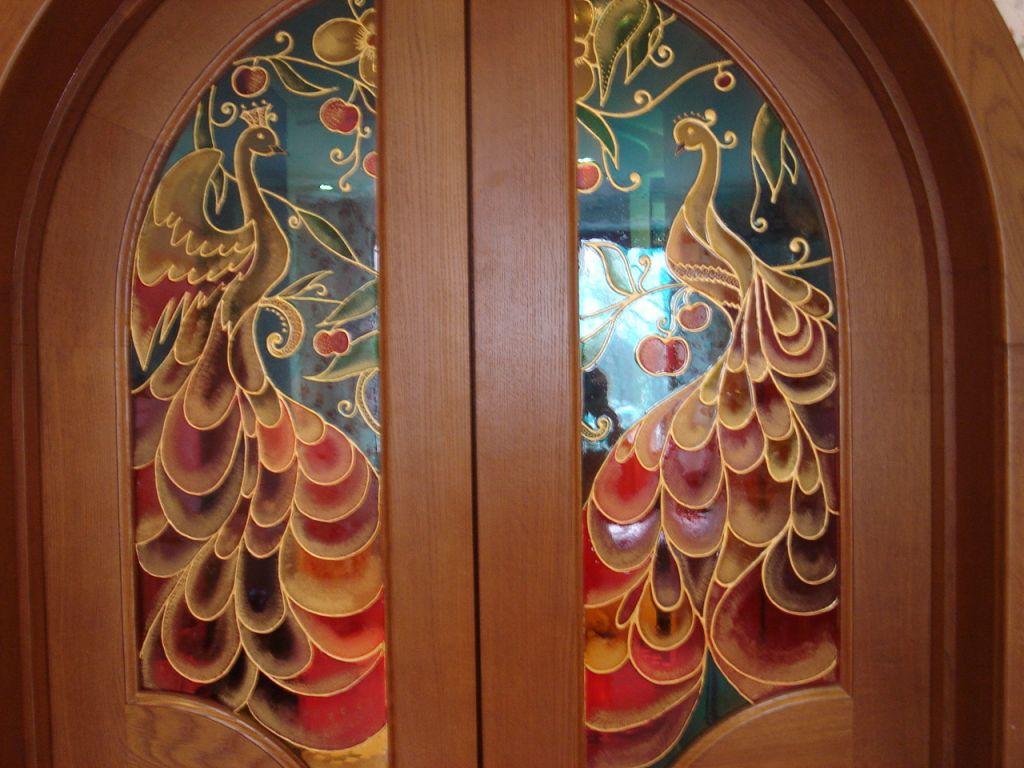 Разрисовка дверей своими руками 43