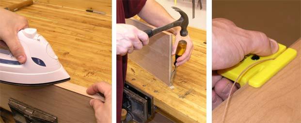 Как приклеить кромку пвх своими руками
