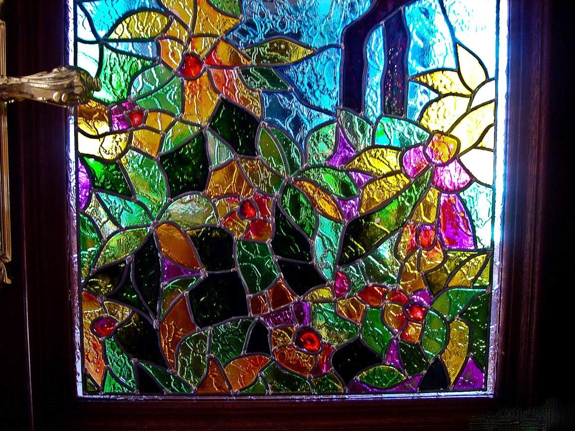 Декорирование стекол двери своими руками