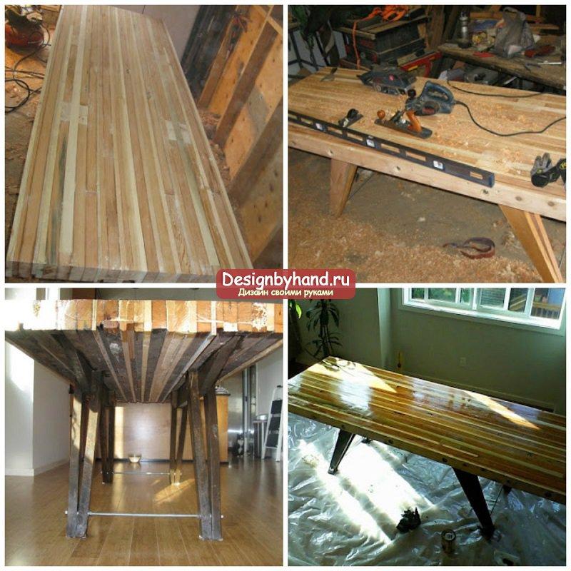 Изготовление из дерева столов своими руками 274