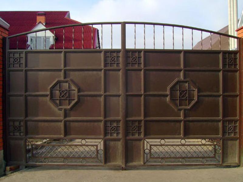 Ворота распашные кованые своими руками фото