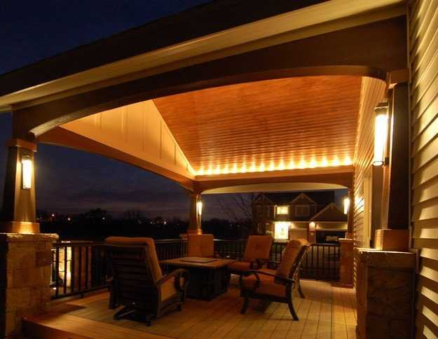 verandah lighting. The Lighting Of Open Verandah Is Often Done On Rails. Here You Can Install Both Lamps With Conventional Or Economy Lamps, And LED.
