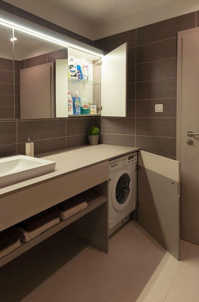 ванных встроенными фото шкафами со