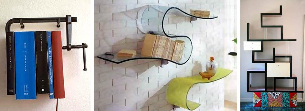 Дизайн настенных полок своими руками 175