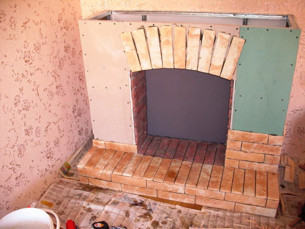 Как построить декоративный камин в доме своими руками пошаговая инструкция 26