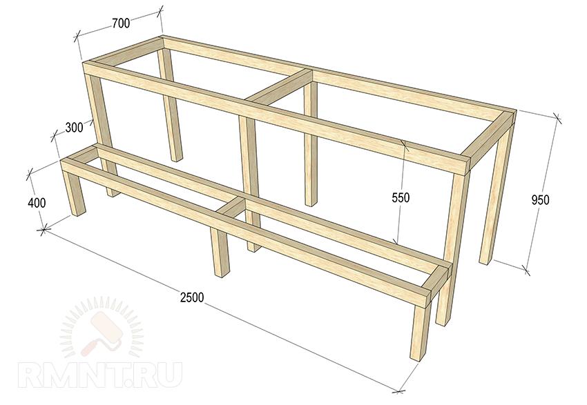 Мебель для бани своими руками из дерева фото, схемы